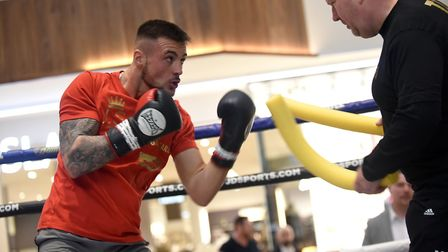Joe Steed is put through his paces by trainer Graham Everett ahead of his fight against Miguel Agui