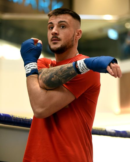 Joe Steed preparing for his fight against Miguel Aguilar in Peterborough Picture: Gary Samuels