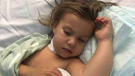 Two-year-old Esme Lambert is battling a brain tumour, but has been sent words of support from her fa