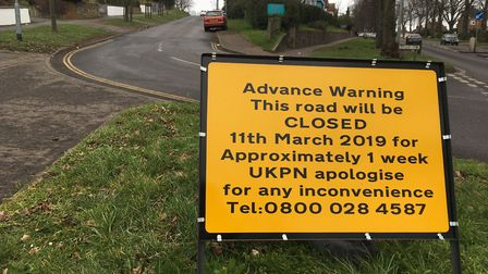 Galley Hill in Norwich will be shut for work by UK Power Networks. Pic: Dan Grimmer
