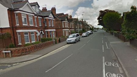 Corton Road in Lowestoft, close to Station Road, near to where the break-in happened. Picture: Googl