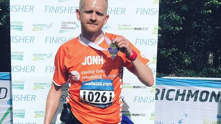 John Fensome is looking to complete 12 marathons in 12 months. Picture: John Fensome