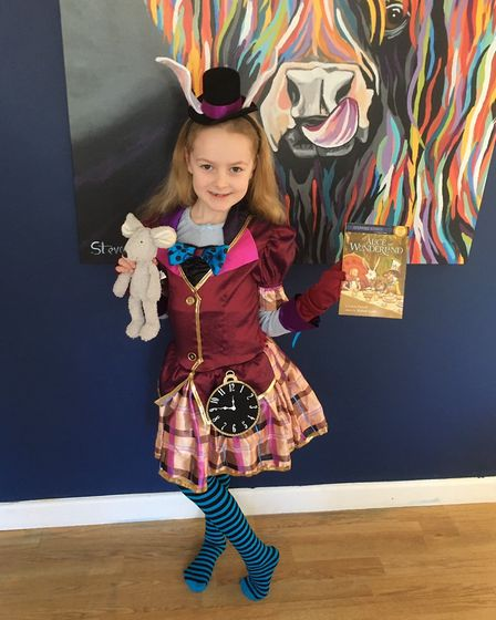 Emilie-Rose Pamment as the Mad Hatter from Alice in Wonderland. Photo: Victoria Pamment