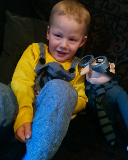 Lochlan, aged 3, as a minion from Dispicable Me. Photo: Kelly Bennett