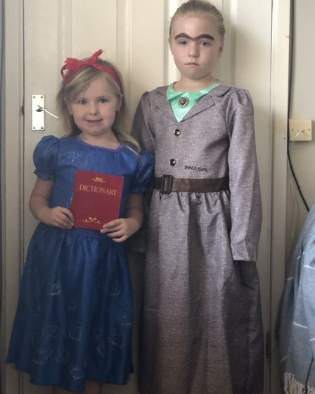 Florence and Gracie as Matilda and Miss Trunchball. Photo: Ruth Dawson