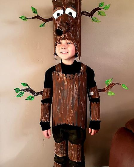 Dressed as the Stickman for World Book Day 2019. Photo: Lynn Stokes