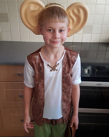 Toby Barber, aged 7, on World Book Day 2019. Photo: Laura Barber