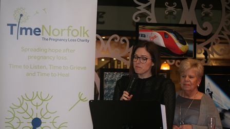 Sarah Chapman who shared her story of pregnancy loss at an event for TimeNorfolk. Photo: TimeNorfolk