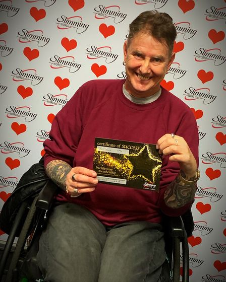 Neil Ferris, from Norwich, has lost six stone since joining his local Slimming World group. Photo: C