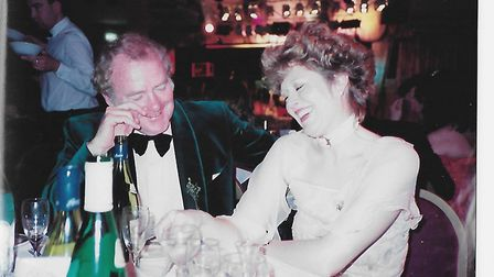 The couple in Norwich on St Patrick's Day 1988, four months before their wedding