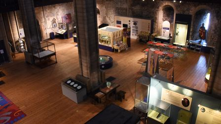 Empty cases in the Norwich Castle Keep as preparation have started for its multi-million pound refur