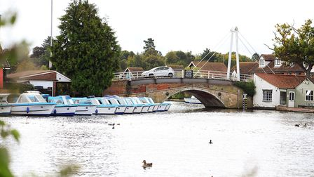 Wroxham bridge. Works to the bridge are due to be finished by the weekend. Picture: James Bass