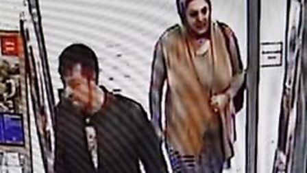 Police would like to speak to these two people in relation to fraud incidents. Picture: Norfolk Cons