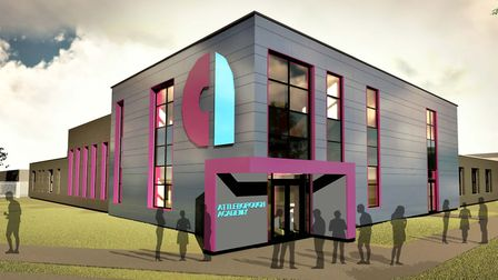 Indicative image of what Attleborough Academy's new building will look like. Picture: Attleborough A