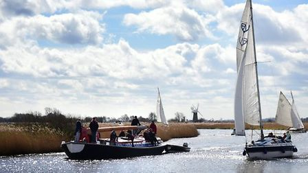 Sailing on the Broads is one of the experiences being offered to Australians in the new tourism prom