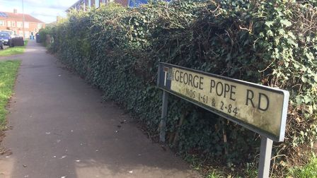 George Pope Road in Norwich where a taxi driver was attacked in broad day light on Mothers Day. Pict