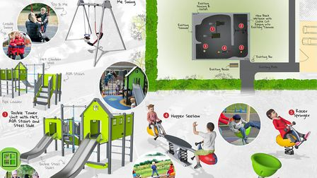 The old play equipment at Oaklands play area will be replaced like for like with new, modern and col