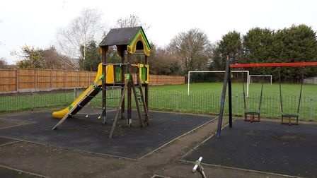 The old tower play equipment at the Oaklands play area in Swaffham. Photo: Sue Dent