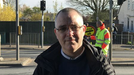 Andrew Tullett, parent/governor of Colman Junior school, who is helping fight the council's plans to