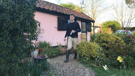 Matthew Harrowven from Tap and Tipple, delivers wine to your front door, like a milkman. Picture: El