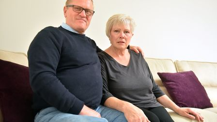 Steve Beamish and his wife Lorraine from Lowestoft. Steve has overcome an opioid addiction. PICTURE:
