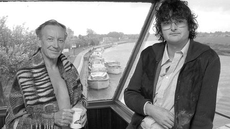 Martin Smith (right) and Dick Boulter after they rescued a boy from the River Bure at Great Yarmouth