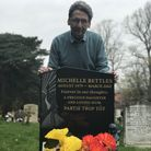 John Bettles at the grave of his daughter Michelle in Earlham Cemetery. Picture: Neil Didsbury