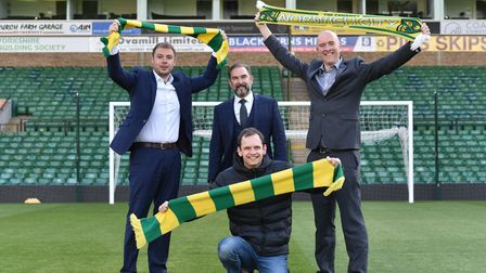 Archant and Fan group Along Come Norwich launch the Sing Up The River End campaign.Ben Kensell, Norw