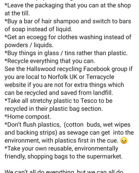 Team Trash Girl List of eco things you can do