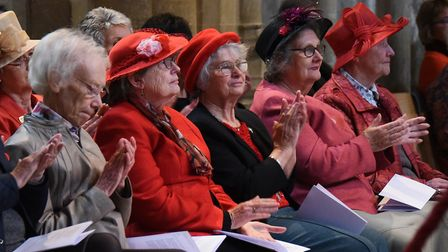 Members at the Norfolk Federation of WIs Centenary Celebration at Norwich Cathedral. Picture: DENISE