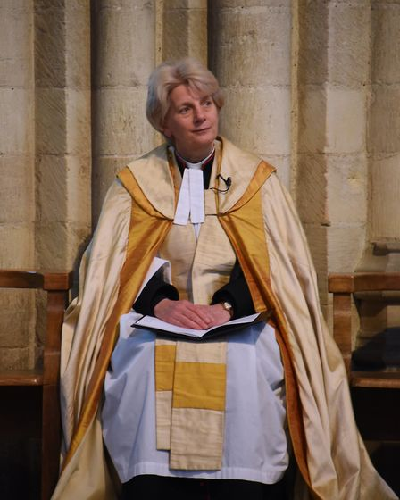 The Dean of Norwich, the Very Rev Jane Hedges, at the Norfolk Federation of WIs Centenary Celebratio