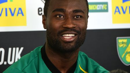 NCFC play-off press conference. Alex Tettey. Picture: ANTONY KELLY