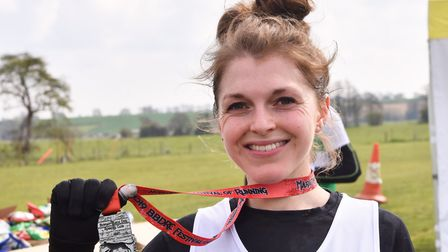 Bungay Festival of RacingMarathon finishers2nd place and 1st woman home Daisy Glover of the Framling