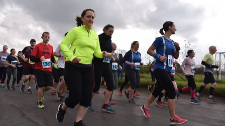 The Bungay Festival of Running 2019Setting off for the 10kByline: Sonya DuncanCopyright: Archant 201