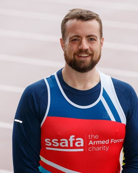 Chris Taylor, from Rackheath, is running the London Marathon to raise money for SSAFA. Picture: Cour