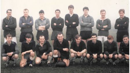 The original Beccles Rugby Club team from 1966.