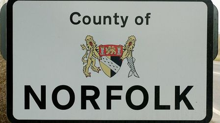 Norfolk county boundary sign. Picture: Bill Darnell