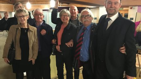 Members of Costessey-based Farmland Road Action Group, including Steve Codman (on the right) and cou
