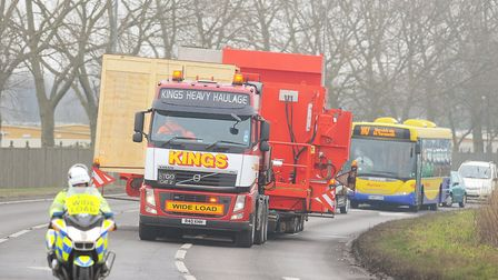 An abnormal load previously passing through Norfolk and Suffolk. Picture: James Bass