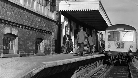 Attleborough railway station after a recent 'face-lift', November 1969. Photo: Archant Library