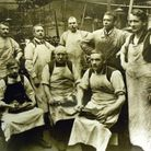 Workers at the Van Dal shoe factory in Norwich, pictured in the early 20th century. The factory open