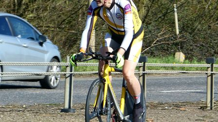 Mark Fairhead was the fastest finisher from the CC Breckland at the Wisbech Wheelers 15 Picture: Fer