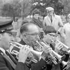 Watton brass band at Heacham fete pic taken 18th august 1967 m5830-20 pic to be used in lets talk se