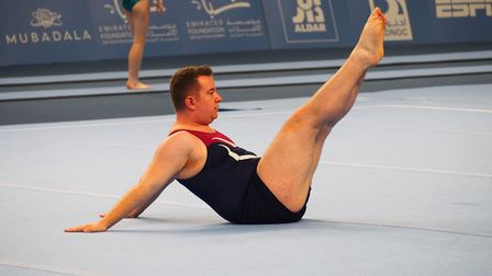 Shane Baxter competing in the Special Olympics World Games in Abu Dhabi 2019. Picture: Special Olymp
