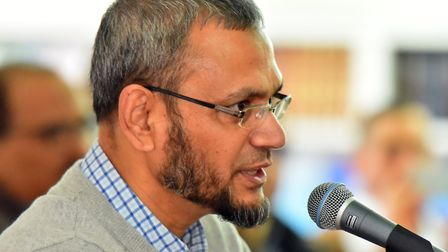 Sirajul Islam at Norwich Mosque as they held a remembrance and solidarity event for the victims of t