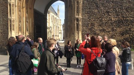 The group of about 20 people were taken around Norwich on Saturday as part of a national Visit Engla