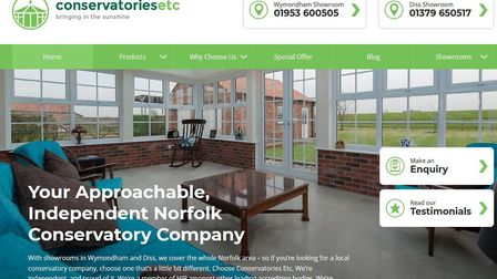 The website of Conservatories Etc which has gone into liquidation owing £760,000. Image: Conservator