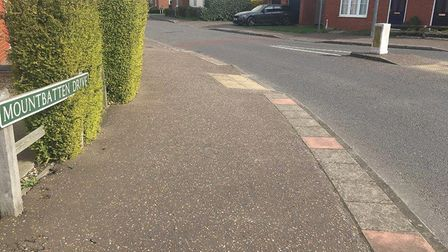 The scene in Mountbatten Drive, Old Catton, where a teenager was stabbed. PIC: Peter Walsh.