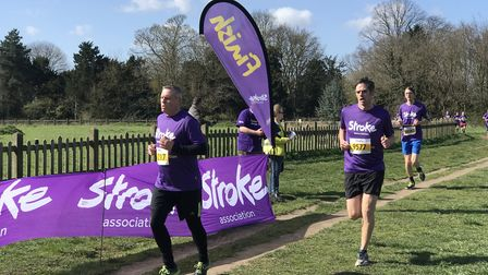 EDP reporter Peter Walsh who suffered a stroke in 2018 took part in the Resolution Run at Catton par