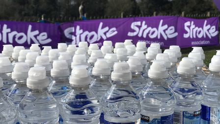 Bottles of water and first aiders were on hand for the Resolutuion runners at Catton park in Norwich
